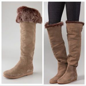 Sam Edelman Orlando Over Knee Suede Boots Fur 8.5